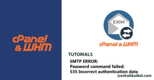 SMTP ERROR: Password command failed: 535 Incorrect authentication data